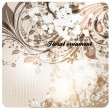 Hand Drawn floral background with flowers, greeting vector card for retro design - Stock Vector