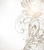 レトロなデザインのヴィンテージの花の背景をベクトルします。 — ストックベクタ