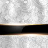 été transparente lumineuse fleur wallpaper, fond de vecteur, soie. blanc — Vecteur