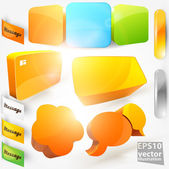 Set of 3D vector items. — Stock Vector