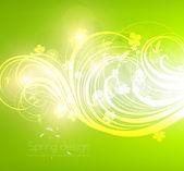 Vector green shiny background — Stock Vector
