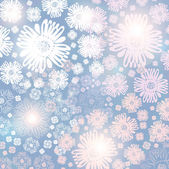 Abstract blue Snowflake background — Stock Vector