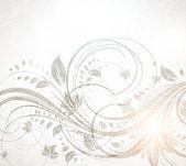 Vector vintage floral fond pour design rétro — Vecteur