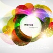 Stock Vector: Abstract vector shining background