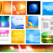 Royalty-Free Stock Vectorielle: Abstract background set for design