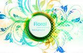 Fundo floral de grunge verão para design — Vetorial Stock
