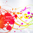 Stock Vector: Abstract burst background