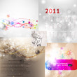 Royalty-Free Stock Vector Image: Christmas vector set with calendar and retro background for xmas design