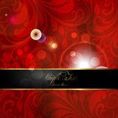 Seamless summer bright flower wallpaper, vector background, Silk. red — Stock Vector