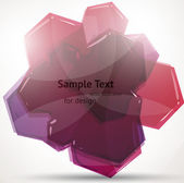 Abstract fly hexagon shapes vector background — Stock Vector