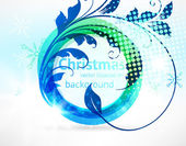 Abstracte vintage blauwe achtergrond voor ontwerp — Stockvector