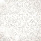 Seamless white Damask wallpaper — Stock Vector
