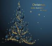 Arka plan christmas ve yeni yıl için — Stok Vektör