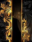 Sommer weiß, schwarz-golden-banner — Stockvektor