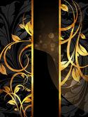 Summer white, black golden banner — Stock Vector