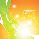 Vektor gröna glänsande bakgrund — Stockvektor