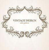 Patrón abstracto para el diseño. elementos florales retro para el fondo — Vector de stock