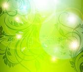 Seamless wallpaper pattern, green — Stock Vector