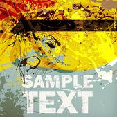 Grunge summer Background for design — Stock Vector