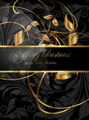 Elegant christmas background with place for new year text invitation — 图库矢量图片