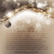 Elegant christmas background with baubles — Stock Vector #15422125