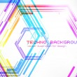 Abstract techno background vector - Stock Vector
