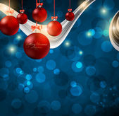 Elegant christmas background with baubles — Stockvektor