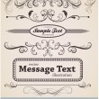 Vector set: calligraphic design elements and page decoration - Stok Vektör