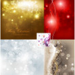 Christmas vector set retro background for xmas design — Stock Vector