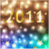 New Years card 2011 with back light and place for your text — Stock Vector