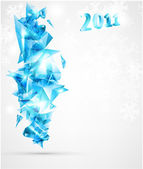 New Years 3D card 2011 with back light and place for your text — Stock Vector