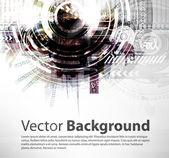 Abstracte techno vector achtergrond. — Stockvector