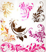 Hand Drawn floral background with flowers, greeting vector card for retro design — Vettoriale Stock