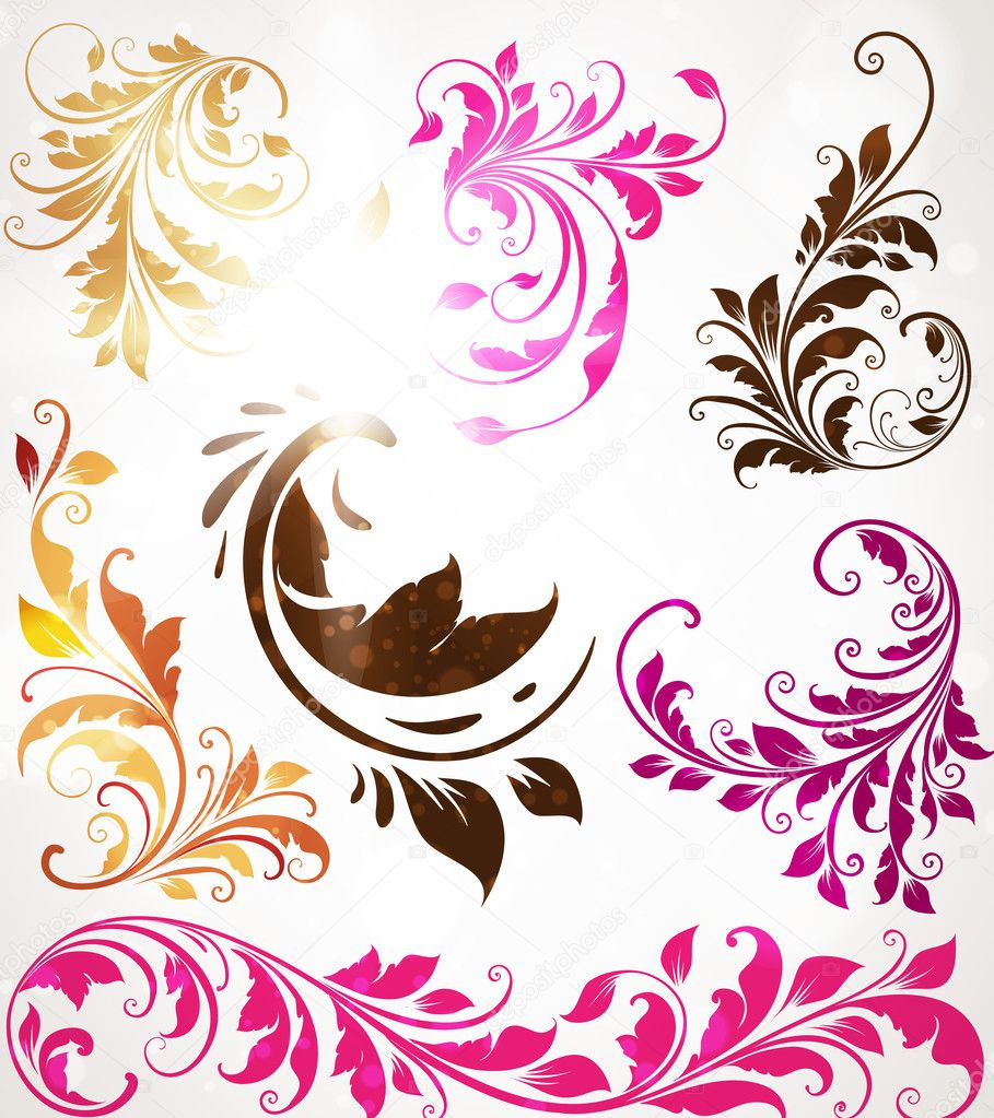 Hand Drawn floral background with flowers, greeting vector card for retro design — Stock Vector #15478233