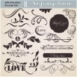 Vector set: calligraphic design elements and page decoration — Stock Vector #15509075