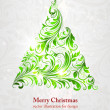 Christmas tree vector image - Grafika wektorowa