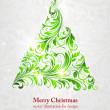 árbol de Navidad vector de la imagen — Vector de stock