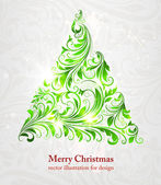 Christmas tree vector image — Stock Vector