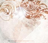 Ručně tažené květinové pozadí s květinami, pozdrav vektorové kartu pro letní retro design. — Stock vektor