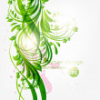 Abstract floral background with place for your text. vector — Stock Vector #15643065