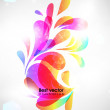 Abstract floral spring background. — Stock Vector