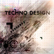 Abstract Techno Vector Background — Stock Vector