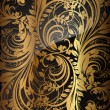 Seamless wallpaper pattern gold, vector — Stock Vector #15647555