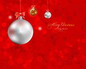 элегантные рождественский фон с фенечки — Cтоковый вектор