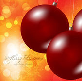 Elegant christmas background with baubles — Stock Vector