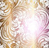 Sömlös bakgrund mönster guld, vektor — Stockvektor