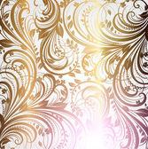 Papel de parede sem costura padrão ouro, vetor — Vetor de Stock