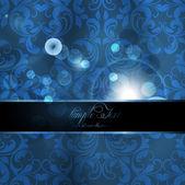 Seamless summer bright flower wallpaper, vector background, Silk. blue — Stock Vector