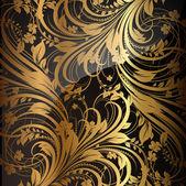 бесшовные обои шаблон золото, вектор — Cтоковый вектор