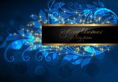 élégant fond de noël avec place pour invitation texte nouvel an — Vecteur
